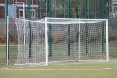 Een voetbaldoel Stock Foto's