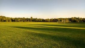 Een voetbalgebied stock afbeelding