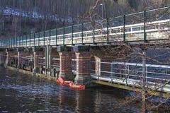 De brug van Porsnes stock afbeeldingen