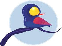 Een vogel Royalty-vrije Stock Afbeeldingen
