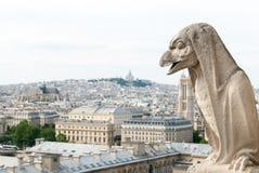 Een vogel-Gelijkaardige Gargouille van Notre Dame III Stock Fotografie