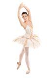 Een volledig lengteportret van een ballerinadanser Royalty-vrije Stock Afbeeldingen