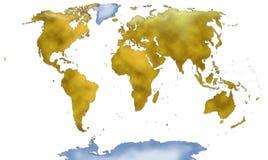 Een volledige kaart van de wereld Royalty-vrije Stock Afbeeldingen