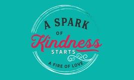 Een vonk van vriendelijkheid begint een brand van liefde stock illustratie