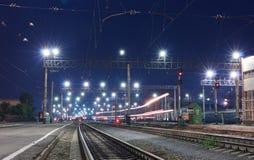 Een voorbijgaande trein Stock Fotografie