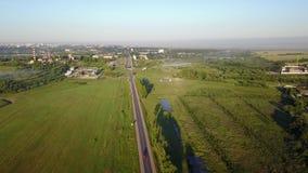Een voorstad van de stad van Vitebsk - het dorp Andronovichi stock footage