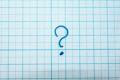 Een vraagteken in het notitieboekje royalty-vrije stock afbeeldingen