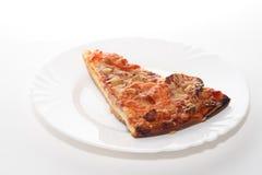Een vrede van pizza stock foto's