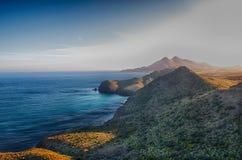 Een vreedzaam landschap in de Middellandse Zee royalty-vrije stock foto