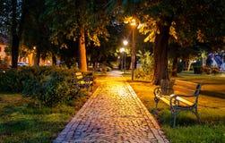 Een vreedzaam park voor het rusten van onze vermoeide zielen Royalty-vrije Stock Foto