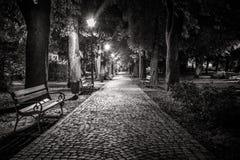 Een vreedzaam park voor het rusten van onze vermoeide zielen Stock Foto