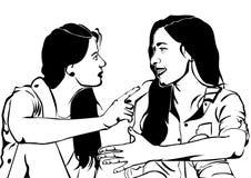 Een vriendschappelijk praatje en één of andere roddel royalty-vrije illustratie