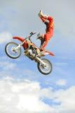 Vrije slag moto-x lucht Stock Foto's
