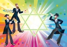 Een vrolijke vakantie Purim Stock Afbeeldingen