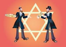 Een vrolijke vakantie Purim Royalty-vrije Illustratie