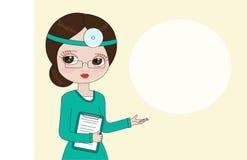 Een vrouw arts geeft advies Vector illustratie vector illustratie