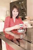 Een vrouw drinkt Royalty-vrije Stock Foto