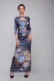 Een vrouw in een lange kleding Royalty-vrije Stock Afbeelding