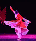 """Een vrouwelijk die karaktertype in shadowboxing-dansdrama""""mei Lanfang†wordt berijmd  Stock Foto"""