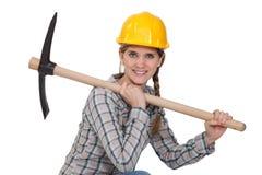 Een vrouwelijke bouwvakker Royalty-vrije Stock Foto's