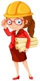 Een vrouwelijke ingenieur stock illustratie