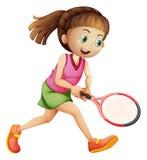 Een vrouwelijke tennisspeler stock illustratie
