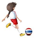 Een vrouwelijke voetballer van Thailand Royalty-vrije Stock Afbeelding