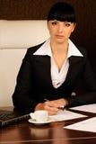 Een vrouwelijke werkgever Royalty-vrije Stock Foto's