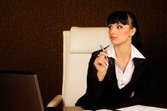Een vrouwelijke werkgever Royalty-vrije Stock Afbeeldingen