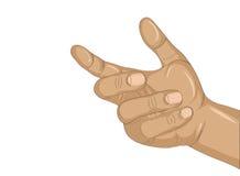 Een vrouwen` s hand houdt iets onzichtbaar Lege plaats voor uw aÐ ² royalty-vrije illustratie