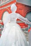 Een vrouwencijfer van ijs wordt gemaakt dat Royalty-vrije Stock Afbeeldingen