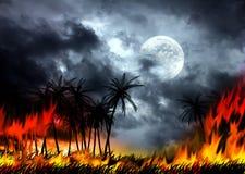 Een vulkanische uitbarsting Stock Afbeeldingen