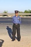 Een wacht beschermt het parkeren Stock Foto's