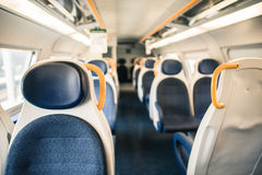 Een Wagen van een trein stock foto