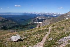 Een wandelingssleep in MT Evans Wilderness Royalty-vrije Stock Foto's