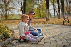 Een warme Zonnige dag in de Gouden herfst stock foto