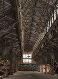 Een Warner en een Swasey verlieten het inbouwen van Cleveland Ohio stock afbeelding