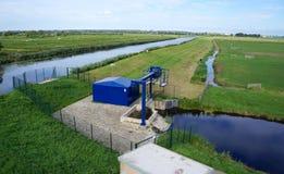 Een water pompstation in Nederland royalty-vrije stock foto