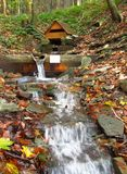 Een waterhole op de bergbeek Stock Afbeelding