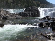 Een waterval in Montana stock footage