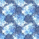 Een waterverf voor bloemontwerp Ornament voor zijdestof verf Stock Foto's
