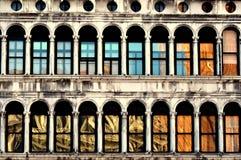 Een weerspiegelend venster Stock Afbeelding