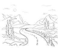 Een weg vector illustratie