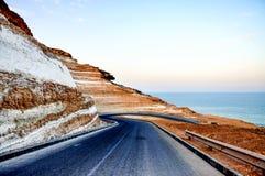 Een weg aan oceaan Stock Fotografie
