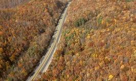 Een weg, Appalachia stock afbeeldingen