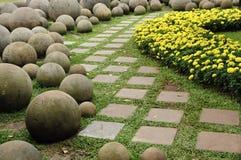 Een weg in de tuin Royalty-vrije Stock Fotografie