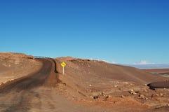 Een weg in een woestijn Royalty-vrije Stock Afbeelding