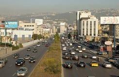 Een weg in Libanon royalty-vrije stock afbeelding