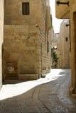 Een weg van de oude stad van Jeruzalem, Israël Royalty-vrije Stock Foto