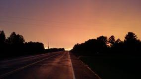 Een weinig wazige hemel vóór regen Stock Afbeelding